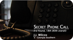 SECRET PHONE CALL - J.J. Wilcox drafted by the Dallas Cowboys 2013 NFL Draft - The Boys Are Back Blog