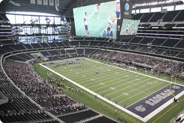 SILVER AND BLUE DEBUT - Dallas Cowboys take in AT&T Stadium aura at homecoming - Cowboys Stadium