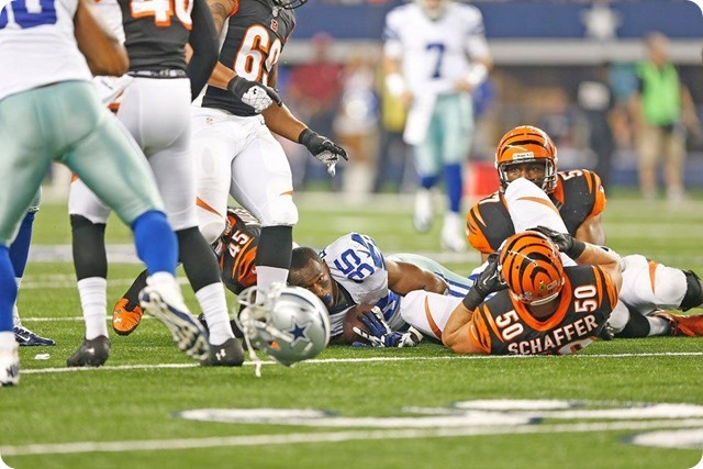 TEXAS 2 DEFENSE - Starters continue to excite in 24-18 preseason win at AT&T Stadium - The Boys Are Back blog 2013 - Bengals turnover