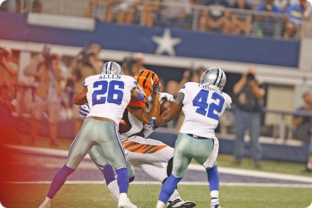 TEXAS 2 DEFENSE - Starters continue to excite in 24-18 preseason win at AT&T Stadium - The Boys Are Back blog 2013 - Safety Allen Church