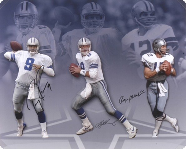 dallas cowboys quarterback tony romo troy aikman roger staubach - the boys are back blog