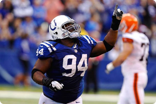 Dallas Cowboys signed former Colts defensive tackle Drake Nevis - The Boys Are Back blog 2013 - Nevis vs. Cleveland Browns
