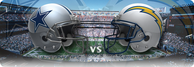 game center - Dallas Cowboys vs. San Diego Chargers - 2013-2014 Dallas Cowboys