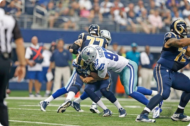 GAMEDAY STATS AND QUOTES - 2013-2014 Dallas Cowboys vs. St. Louis Rams–Week 3 - Jason Hatcher sack
