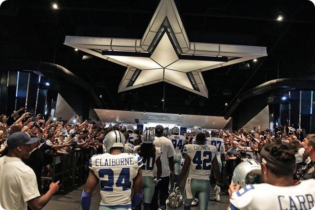 NEW ERA - THE 12th COWPOKE - Rowdy Dallas Cowboys fans create home field advantage at AT&T Stadium - 2013-2013 Dallas Cowboys - Taking the field