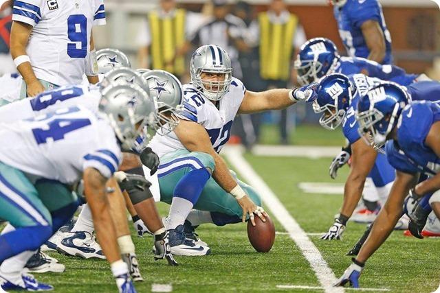 NEW ERA - THE 12th COWPOKE - Rowdy Dallas Cowboys fans create home field advantage at AT&T Stadium - 2013-2013 Dallas Cowboys - Trenches Frederick Cowboys vs. Giants