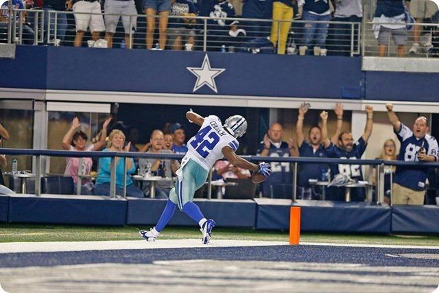 NEW ERA - THE 12th COWPOKE - Rowdy Dallas Cowboys fans create home field advantage at AT&T Stadium - 2013-2013 Dallas Cowboys - Barry Church touchdown