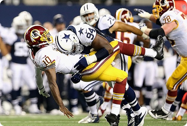 TEXAS-2 FRONT FOUR - All hands on deck for the Dallas Cowboys D-linemen (DeMarcus Ware)