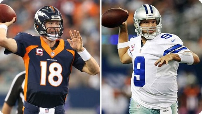 Image result for peyton manning v tony romo