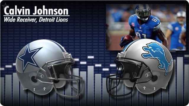 Audio - Calvin Johnson press conference with Dallas Cowboys media - 2013-2014 Dallas Cowboys schedule - button