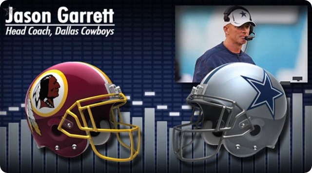 Audio - Jason Garrett press conference with Washington Redskins media - 2013-2014 Dallas Cowboys schedule
