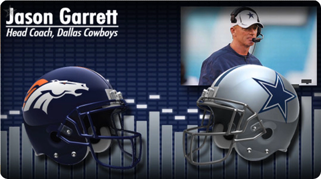 Audio - Pregame press conference with opponent media - 2013-2014 Dallas Cowboys vs. Denver Broncos - Jason Garrett - Video button