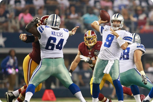 BACK TO THE FUTURE: Dallas Cowboys guard Brian Waters hasn't missed a beat since week 4