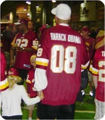 Barack Obama Washington Redskins Jersey
