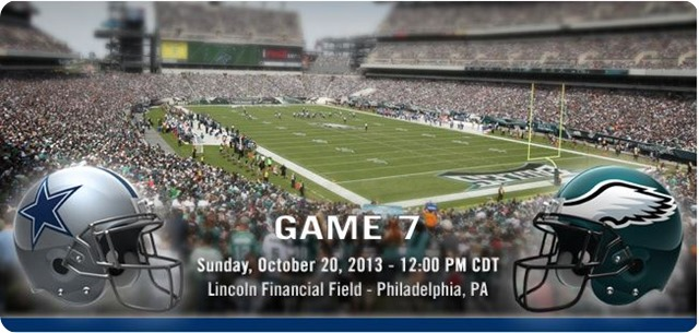 Button - Dallas Cowboys vs. Philadelphia Eagles - Dallas Cowboys 2013-2014 schedule - 2013-2014 Dallas Cowboys - helmets - Lincoln Field