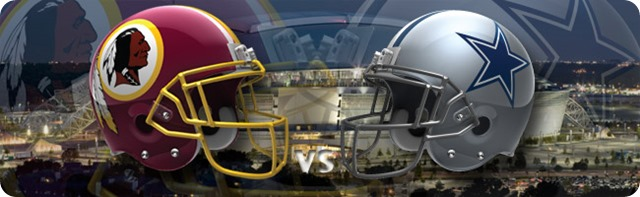 Button - Dallas Cowboys vs. Washington Redskins - Dallas Cowboys 2013-2014 schedule - 2013-2014 Dallas Cowboys - helmets