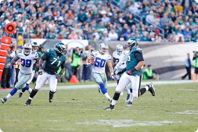 DALLAS COWBOYS AWARDS - Sean Lee named NFC Defensive Player of the Week - 2013-2014 Dallas Cowboys - Sean Lee INT vs Eagles