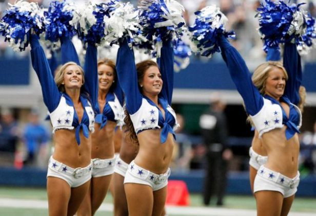dallas cowboys cheerleaders perform vs cleveland browns