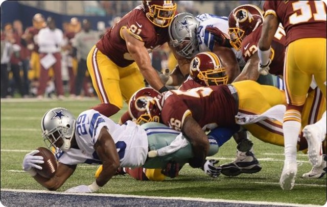 DEFEATED RIVAL HEADLINE - Robert Griffin III and Co. struggle in Dallas, fall to 1-4 - 2013-2014 Dallas Cowboys