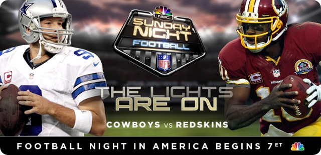 GAME 6 SHOWDOWN - REDSKINS at COWBOYS - 2013-2014 Dallas Cowboys schedule - NBC Sunday Night Football SNF