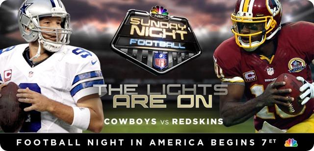 GAME 6 SHOWDOWN - REDSKINS at COWBOYS - 2013-2014 Dallas Cowboys schedule - NBC Sunday Night Football SNF