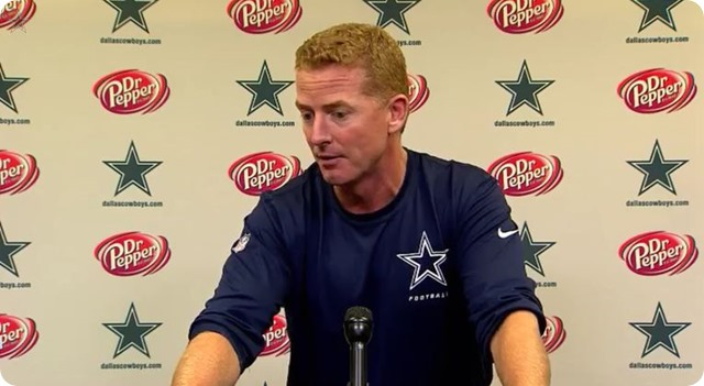 GAME FILM REVIEW - COWBOYS VS. LIONS - Jason Garrett press conference - Gameday film game tape review - button