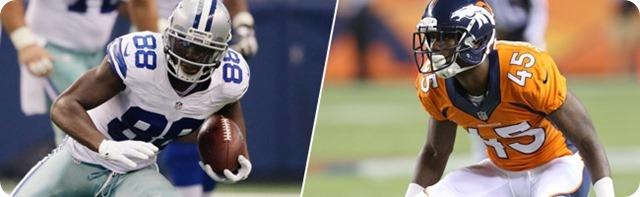 GAMEDAY MATCHUPS - Denver vs. Dez Bryant; Dallas vs. Wes Welker - 2013-2014 Dallas Cowboys schedule