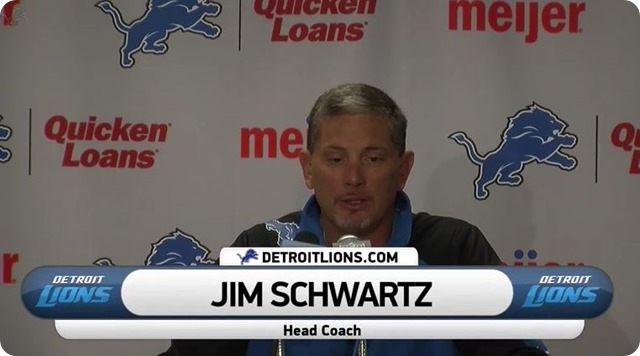 HIGHLIGHTS AND LOWLIGHTS - Detroit Lions postgame press conference - Head coach Jim Schwartz - watch video - button