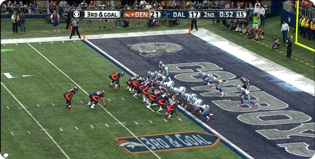 Manning TD - 1 - WR will shift right