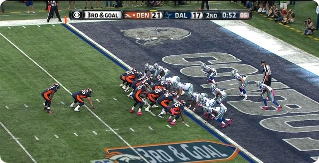 Manning TD - 2 - WR will shift right - moves defender to weak side