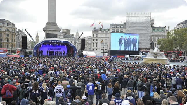 NFL fan interest in the UK fan base of more than 12 million - America's Team UK fans - Dallas Cowboys UK London, England 2014 NFL season