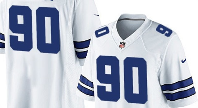 NUMBER 90 REBRANDING - Marvin Austin assigned Jay Ratliff's locker and his jersey number - 2013-2014 Dallas Cowboys roster