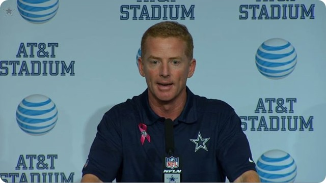 POSTGAME PRESS CONFERENCE - Jason Garrett, Tony Romo, and Jerry Jones reaction to Dallas Cowboys 51-48 loss to Denver Broncos - 2013-2014 Dallas Cowboys