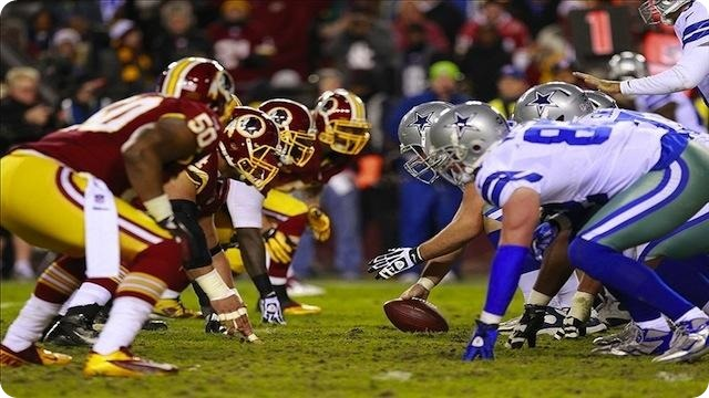 REDSKINS at COWBOYS - Trenches - 2013-2014 Dallas Cowboys schedule - Washington Redskins vs Dallas Cowboys - Dallas snap