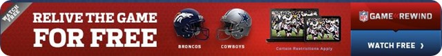 Rewatch the Dallas Cowboys vs Denver Broncos game on NFL Game Rewind for Free - Limited time offer - FREE GAME OF THE WEEK