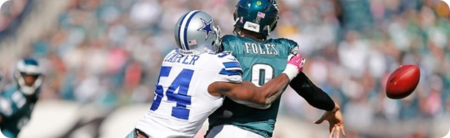 TEXAS 2 DEFENSE CLIPS EAGLES - Game 7 Recap–Dallas Cowboys perched atop NFC East division - Carter sacks Foles