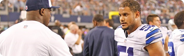 TEXAS-2 IRON MAN - DeMarcus Ware game-time decision; Kyle Wilber prepared to start