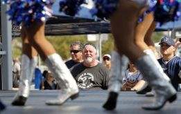 dallas cowboys cheerleaders entertain fans outside cowboys stadium