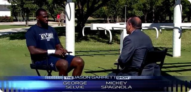 The Jason Garrett Show - Dallas Cowboys vs. Detroit Lions - George Selvie interview with Mickey Spagnola - 2013-2014 Dallas Cowboys schedule - NFL schedule - Button