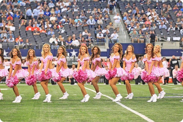 THINK PINK - October is Breast Cancer Awareness Month - 2013-2014 Dallas Cowboys Cheerleaders - 5