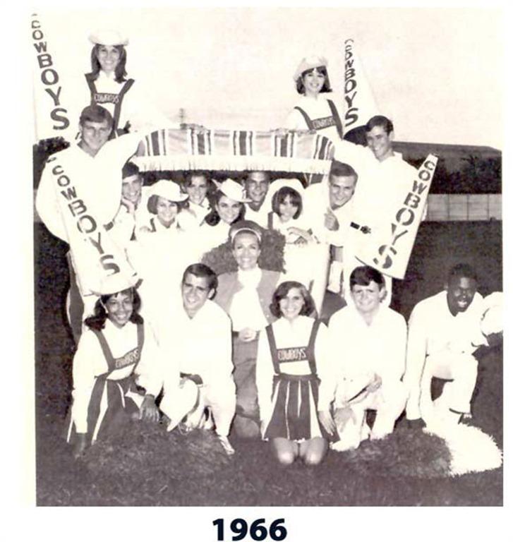 1966-1967 Dallas Cowboys Cheerleaders Squad — Dallas Cowboys history