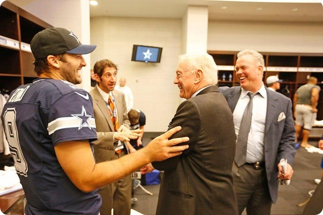 BEATS THE BUG AND RAIDERS - Flu virus doesn't stop Tony Romo from second-half perfection - Dallas Cowboys schedule 2013 2014 - Dallas Cowboys news - Tony Romo Jerry Jones lockerroom Stephen Jones