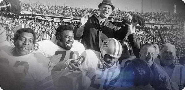 Dallas Cowboys make a run unprecedented in NFL history by appearing in 12 championship games and five Super bowls - Dallas Cowboys history - 1960s 1970s 1980s