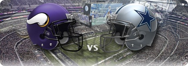 Dallas Cowboys vs. Minnesota Vikings - Dallas Cowboys 2013-2014 schedule - 2013-2014 Dallas Cowboys - NFL helmets - Button