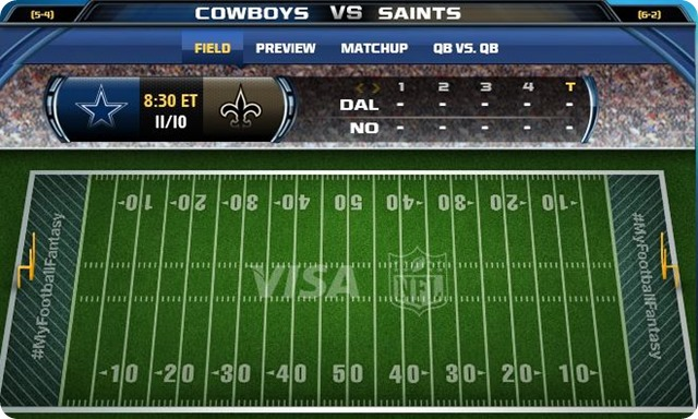 gametrax - Dallas Cowboys vs. New Orleans Saints - 2013-2014 Dallas Cowboys schedule - button