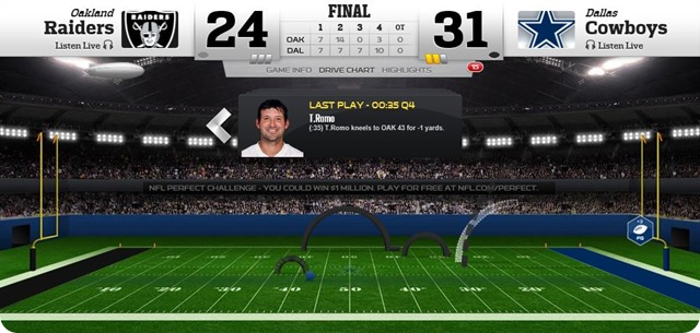 gametrax - oakland raiders vs. dallas cowboys - 2013-2014 Dallas Cowboys schedule - dallas cowboys vs. oakland raiders - Dallas Cowboys schedule 2013 2014 - Dallas wins 31-24