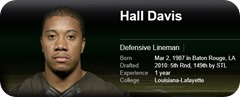 Hall Davis - 2013-2014 Dallas Cowboys roster