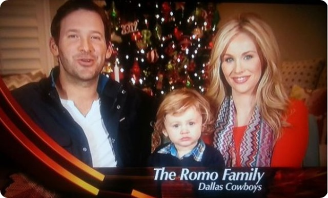 HAPPY THANKSGIVING DAY FROM THE ROMO FAMILY - Tony Romo Candice Romo Hawkins Romo - Dallas Cowboys