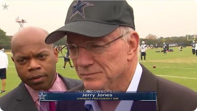 HOLD YOUR HORSES, HATERS - Jason Garrett will be returning to coach the 2014-2015 Dallas Cowboys - Jerry Jones at Valley Ranch