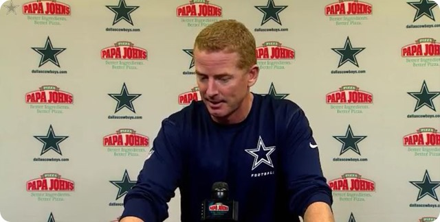 JASON GARRETT PRESS CONFERENCE - Dallas Cowboys head coach Jason Garrett - watch video - button Cowboys Saints - 2013-2014 Dallas Cowboys
